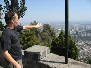 Blick auf Santiago vom Cerro S.Cristobal