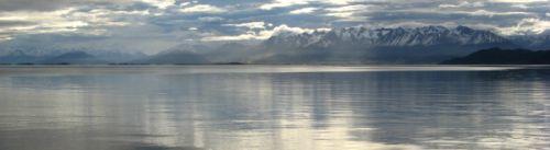 Blick vom Schiff aus Richtung Ushuaia